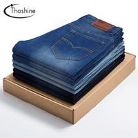 Wholesale Joker Trousers - Thoshine 2017 Summer Autumn Men's Jeans Korean Style Full Length Casual Denim Pants Superior Brand Straight Trousers Joker Jeans