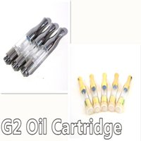 Wholesale plastic capacity - G2 Vape Cartridges 0.5ml 1ml Empty Atomizers Round Metal Drip Tip PC Tank Cartridges 510 Thread Wick Coil Oil Cartridge Capacity No Leaking