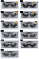 Wholesale human hair false eyelashes extension - 3d Mink lashes 100% Thick real mink false eyelashes natural for Beauty Makeup Extension fake Eyelashes false lashes