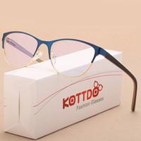 6b147868321 KOTTDO New Fashion Men Cat Eye Glasses Frames for Women Myopia Optical  Vintage Business Eyewear Transparent Eyeglasses Oculos