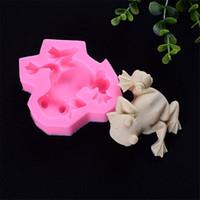 1pc pudding dessert molds for cake decorating chocolates soap mould Frog fondant cake mold silicone baking tools