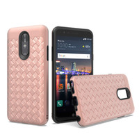 Wholesale cell phone cases for lg online – custom For LG Stylo MetroPcs Aristo MetroPcs Design Braided Case Spray paint TPU PC Striae Imitation Phone Cover Cell phone Case B
