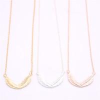 neueste anhänger großhandel-Die neuesten Elemente lockige Feder Anhänger Halskette Life-like Feder Anhänger Halskette für Frauen Einzelhandel und Großhandel Mix