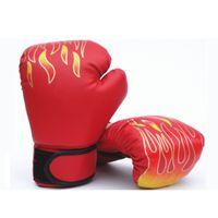 luva ufc venda por atacado-Luvas de boxe MMA Karate UFC Guantes De boxeo Kick Boxing Luva De Boxe Equipamentos De Boxe Chama conjunto Adultos e crianças são opcionais