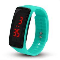 ingrosso orologi digitali del braccialetto principale dello schermo di tocco-Hot New Fashion Sport LED Orologi Candy Jelly uomini donne in gomma silicone Touch Screen digitale Orologi Bracciale Orologio da polso