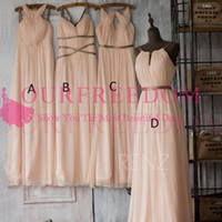 Wholesale beach wedding dresses for guests blue for sale - 2018 Maxi Style Chiffon Floor Length Bridal Dresses A Line Maid Of Honor Wedding Guest Gown Custom Made For Beach Garden Wedding