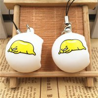 Wholesale fine phone - Lazy Egg Yolk Squishy Stress Reliever Toy Squishies Phone Straps Charm Pendant Stresses Squeeze Toy Children Gift 5df C