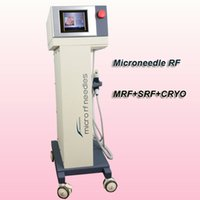 Wholesale derma roller for skin resale online - microneedle rf machine micro needle derma roller kit skin care machines sale MRF SRF Cryo handle for face eyes and body