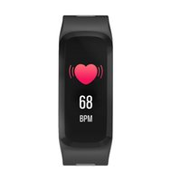 Wholesale used heart for sale - F4 Smart Bracelet Watch Band Color Screen fitness tracker Blood Pressure Heart Rate Monitor Thermometer Pedometer for Android IOS DHL