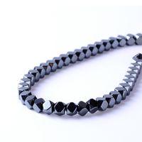 ovaler hämatitstein großhandel-8mm Top qualität 2/3 / 4mm naturstein helle polyeder form lose hämatit perlen für DIY schmuck halskette armband machen