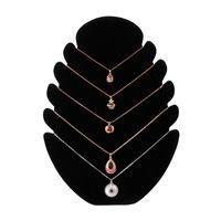 kolyeler için mücevherat vitrin tepsileri toptan satış-Yeni Kolye Takı Kadife Standı Zinciri Tutucu Tepsi Organizatör Göster Vitrin Takı Aksesuarları display8