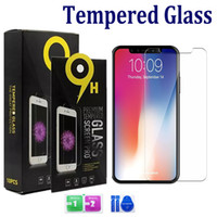 Wholesale For Iphone XS Max XR Plus Samsung A10E A20 galaxy J2 S7 LG Stylo K40 Tempered Glass Screen Protector mm D H with paper package