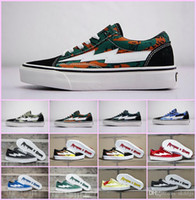 sneakers speichert groihandel-2018 Wholesale NEW Revenge x Storm Sneakers Pop up Store Top Quality Old SKool Off Fashion Grid Mens Ins Canvas Shoes