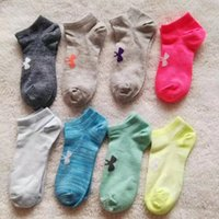 Wholesale Boys Slippers Socks - 1 pairs = 2 pieces UA brand Boys and girl Socks Ankle Skateboard Socks Football kids Cheerleaders Socks Boat Short Sports under arm
