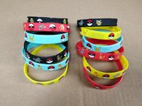 Wholesale cosplay wristband for sale - Pikachu Silicone Bracelets Pocket Monster Wristband Soft Pokeball Wrist Band Straps Figures Kids Toys Christmas Cosplay Hallowmas Gift sale