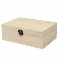 Wholesale natural handmade wooden wood case online - New Home Storage Box Natural Wooden With Lid Golden Lock Postcard Organizer Handmade Craft Jewelry Case Wooden Box Casket Home