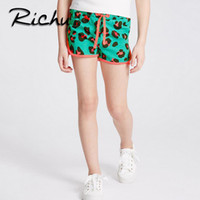 Wholesale Girls Gymnastics Clothing - Richu gymnastics shorts for baby summer 3 D printed cute bottom clothes for girl pants cotton fabric Made In China wholesale green shorts