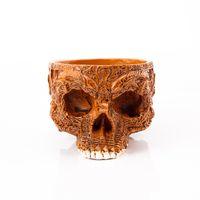 ingrosso vasi da giardino della resina-P-Fame Cranio umano Vaso di fiori Piatti Ciotole Decorative Intagliato A Mano In Resina Artigianato Maschera Aliena Vaso Da Giardino Per Halloween Home Decor