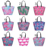 Wholesale fiber shops - Printing Lilly Handbag Classic Style For Women Storage Bags High Capacity Polyester Fiber Travel Shopping Bag Fashion 23yh YB