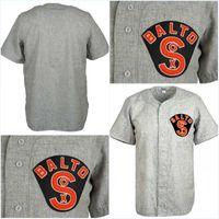 jersey negro de baltimore al por mayor-Baltimore Black So 1926 Road Jersey Cualquier jugador o número Stitch cosido todo cosido de alta calidad envío gratuito camisetas de béisbol