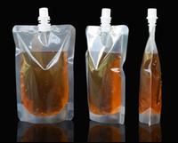 auslaufbeutel großhandel-250 ml Stand-up Kunststoff Getränkeverpackungsbeutel Auslaufbeutel für Saft Milch Kaffee Getränke Flüssigkeit Packsack Getränkebeutel