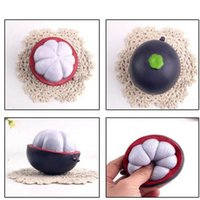 Wholesale Cute Clay Charms - Kawaii Squishy Fruits Decompression Toys Cute Squishies Mangosteen Shape Phone Straps Charm Pendant Hot Sale 5 5sq CR