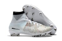Wholesale Footbal Boots - TOP QUALITY MERCURIAL SUPERFLY FG CR7 CUT TO BRILLIANCE SOCCER SHOES CRISTIANO RONALDO CLEATS NEYMAR FOOTBAL SHOES HIGH ANKLE SOCCER BOOTS