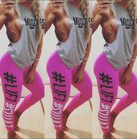 Wholesale Stretch Leggins - Women Yoga Pants Skinny Legging Sportswear Lift Squat Print Fitness Pants Push Up Hips Women's Leggins Stretch Pants KKA4526