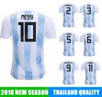 Wholesale football nation - 2018 Argentina Soccer Jersey MESSI cup AGUERO DI MARIA MASCHERANO HIGUAIN calcio fútbol football NATION top national world russia