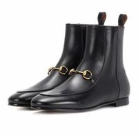ingrosso stivaletti vendita-2018 Donne del progettista di marca Stivaletti di lusso Princetown in vera pelle autunno scarpe vendita calda occidentale stivaletti scarpe di alta qualità A828