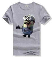 kölelerinin moda toptan satış-Yürüyen Ölü Minions T-Shirt Unisex Tee Giyim Pamuk Kısa Kollu Pamuk T gömlek Hip-Hop rahat moda T-shirt