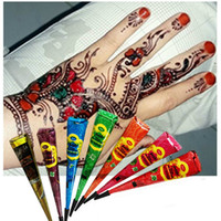 Wholesale art for paintings online - Colorful Indian Henna Tattoo Paste Body Art Paint Mini Natural Indian Tattoo Henna Paste for Body Drawing Temporary Draw On Body