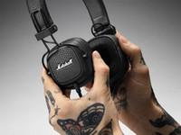 сабвуфер наушники бас оптовых-Высокое качество Marshall Major III беспроводная связь Bluetooth HiFi наушники сабвуфер гарнитура с микрофоном глубокий бас DJ шумоподавления Musican наушники