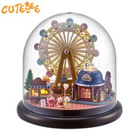 Wholesale toy wooden wheel - CUTEBEE Doll House Miniature DIY Dollhouse With Furnitures Wooden House Europe Wheel Toys For Children Birthday Gift B23