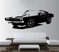 Wholesale paper car design resale online - Removable Large Car Vinyl Sticker Wall Paper Wall Sticker For Living Room House Decoration