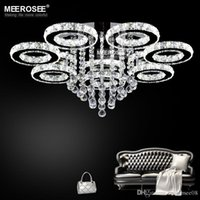 Wholesale led crystal light new design for sale - 2018 New design Crystal Ceiling Light Diamond LED Crystal lamp for Dining Living room Ring Circle Lustres Lamparas de techo Home
