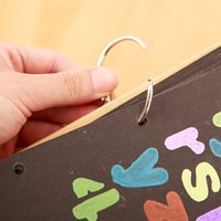 Discount leaf keyring - 10 pcs lot Loose-leaf Notebook DIY Photo Album Coil Binding Iron Hoops Silver Open Iron Rings Small KeyRings