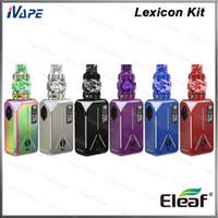 Wholesale coloured glass light resale online - Eleaf Lexicon Kit with ELLO Duro PMMA Atomizer ml Lexicon TC Battery Mod W Dual Mod Light Show Design Original
