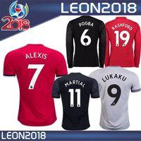 Wholesale Martial Uniforms - Thai quality 17 18 POGBA jersey 2017 2018 LUKAKU RASHAFORD Sanchez ALEXIS soccer shirt Ibrahimovic MARTIAL football uniform