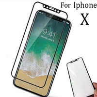 protectores de pantalla de vidrio para celulares al por mayor-para iphone X 9H vidrio templado de 5.8 pulgadas con protector completo de pantalla 53d y con borde suave para iPhone 7 8 plus