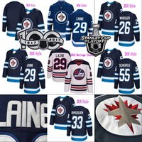 Wholesale Mens Hockey Jerseys - Winnipeg Jets 2016 Heritage Classic 29 Patrik Laine Jersey Mens 26 Blake Wheeler 33 Dustin Byfuglien 55 Mark Scheifele Hodkey Jerseys