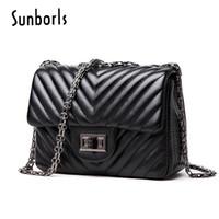 b01d0604603ca handtasche leder schulter klein schwarz großhandel-Handtasche Frauen Messenger  Bags Leder weibliche berühmte Marke schwarz