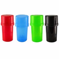Wholesale grinder types - Smoking Dogo Waterproof and airtight Med Container 3 Parts Plastic Grinder Secure twist lock system Herb Grinder