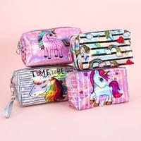 bolsas de cosméticos para caballos al por mayor-Unicornio Cosméticos Bolsa Animal Lindo Caballo Mujeres Embrague Maquillaje Bolsos Organizador Bolsa de almacenamiento de viaje Bolsas de aseo