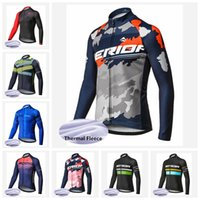 Wholesale merida cycle tops for sale - 2018 pro team cycling clothing Merida men Cycling Jersey Winter Thermal Fleece Long sleeves bike clothing mtb bicycle wear J
