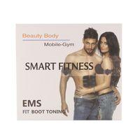 Wholesale arm muscles belt - Ultimate ABS Stimulator Abdominal EMS Muscle Exerciser Belt Fat Burner Massager Body Slimming Pad AB & Arms Full Set DHL ship