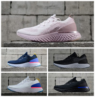 Wholesale comfortable running shoes for men - 2018 Epic React AQ0067 Womens Mens Running Shoes Instant Go Fly Breath Comfortable Sport Boost Size 5-11 For Sale Men Women Athletic Sneaker
