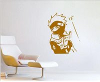 Wholesale Wall Stickers Naruto - Free shipping NEW 2015 Vintage Home Decor Naruto Kakashi Vinilos Decorativos Decals Stickers Adesivo De Parede Infantil Personality Decal