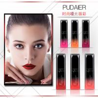 melhor batom líquido duradouro venda por atacado-Melhor Maquiagem Lip 21 Cor Sexy Veludo Fosco Longa Duração Lipgloss Liquid Lipstick Lip Cream