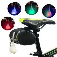 Wholesale rear light bike online - Bike Bicycle Back Rear Tail Cycling LED Light Heart Ball Safty Lamp lamp Backpack hanging light heart night riding warning lamp KKA4889